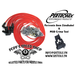 Pertronix Flame-Thrower Hochleistungs Zündkabel rot 8mm Universal